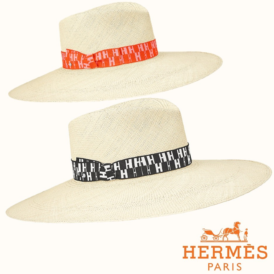 ◆ 21SS 新作◆ HERMES ハット アリゾナ アクセサリー ロゴ (HERMES/ハット) H201028N 0258   H201028N 0458