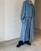 21SS ☆ [LOW CLASSIC]/ LOW WAIST TRENCH COAT / BLUE GREEN