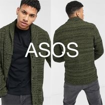 *ASOS DESIGN knitted midweight button cardigan*送料込