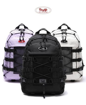 [DAYLIFE] DOUBLE STRING BACKPACK Black, Ivory, Light Purple