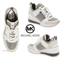 送関込み♪セール♪Michael Kors☆Crista Mixed-Media Trainer