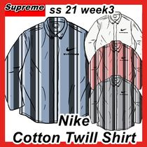Supreme X NIKE Cotton Twill Shirt ss 21 week 3 2021