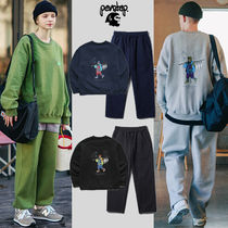 ★PERSTEP★Carry On SweatShirt+Cover Wide Training Pants