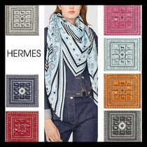 【HERMES】直営/正規店 Couvertures バンダナ ショール 140 7色