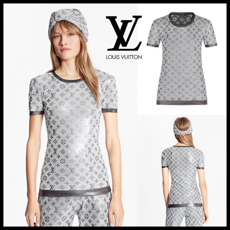 21SS新作☆LOUIS VUITTON/シャイニーモノグラムニットトップ (Louis Vuitton/Tシャツ・カットソー) 1A8RQJ  1A8RQK  1A8RQL