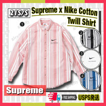 【21SS】SUPREME x Nike Cotton Twill Shirt [追跡付き]