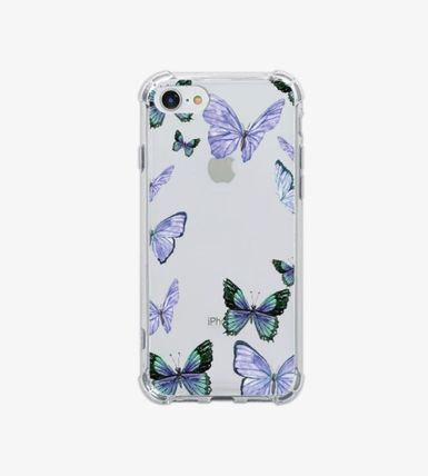 iPhone・スマホケース Mademoment☆韓国☆Vintage Butterfly Frame Tank Clear Case