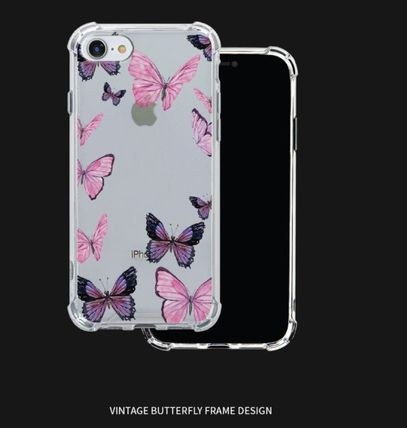 iPhone・スマホケース Mademoment☆韓国☆Vintage Butterfly Frame Tank Clear Case(3)