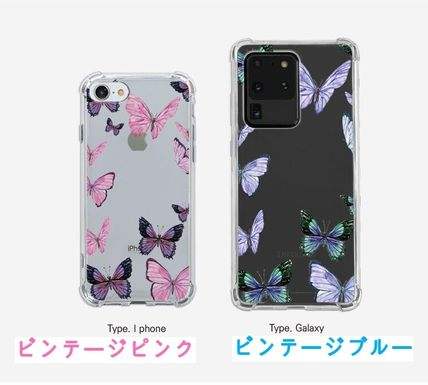 iPhone・スマホケース Mademoment☆韓国☆Vintage Butterfly Frame Tank Clear Case(5)