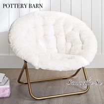 【PotteryBarn】Polar Bear Faux-Fur Ivory Hang-A-Round Chair