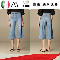 VIP★全て込み★JEANS CROPPED IN DENIM WASHED CON TASCHINO