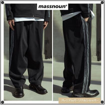 MASSNOUNのSCALE LINE TRACK PANTS