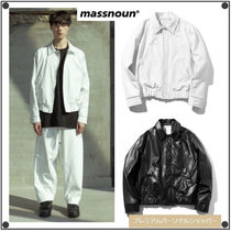 MASSNOUNのARTIFICIAL LEATHER JACKET 全2色