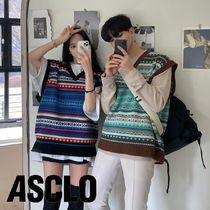 ASCLO Ethnic Knit Vest (2color)