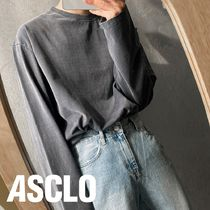 ASCLO Pigment Washing Long Sleeve T Shirt (8color)