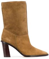 KENZOケンゾーK Line Shearling Pointed-Toe Ankle Bootsブーツ