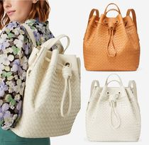 COLE HAAN Woven Drawstring Backpack