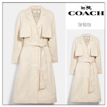 【COACH】Light Drapey Trench With Signature Lining