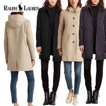 特価!Ralph Lauren Hooded Single-Breasted A-Line Raincoat