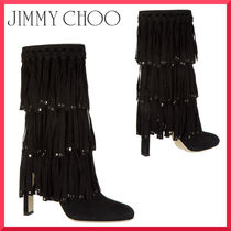【Jimmy Choo】suede heel'ankle boots booties mystery 100