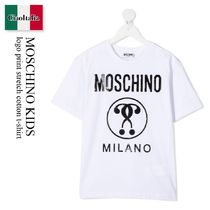 Moschino Kids logo print stretch cotton t-shirt