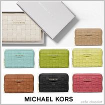 【Michael Kors】Small Woven Leather Wallet コンパクト 財布