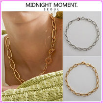 【MIDNIGHT MOMENT.】oval necklace gold or silver〜ネックレス