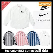 ☆入手困難!21SS WEEK3☆Supreme×NIKE Cotton Twill Shirt