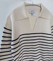 """""""& Other Stories"""" Relaxed Collared Sailor Stripe Sweater"""
