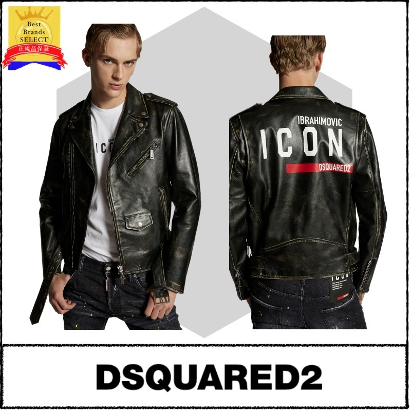 【DSQUARED2】D2xIbra Icon Kiodo Leather Jacket (D SQUARED2/レザージャケット) S79AM0022SY1512900