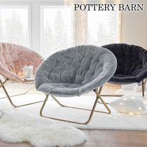 PB teen(ピービーティーン) 椅子・チェア ★POTTERY BARN TEEN★Faux-Fur Hang-A-Round 折り畳み チェア
