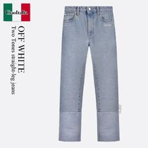 Off White Two Tones straight-leg jeans