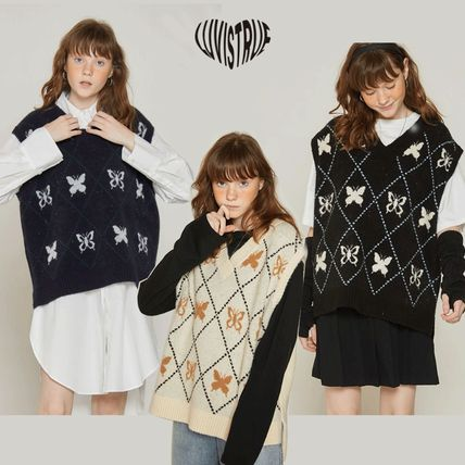 ◆LUV IS TRUE◆ DT BUTTERFLY KNIT VEST ベスト 可愛い 人気