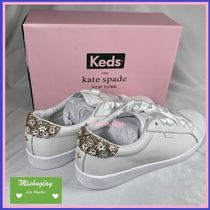 kate spade new york(ケイトスペード) スニーカー 【kate spade×keds】キラキラ☆お花アップリケ♪ace sneakers★