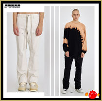 [ATTENTIONROW] Semi-zipped bootcut trousers/追跡付