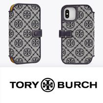 【国内発送 関税無】T MONOGRAM JACQUARD FOLIO FOR IPHONE