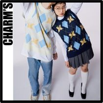 Charm's(チャームス) ベスト・ジレ ☆送料 関税込☆CHARM'S★CHARMS BUTTERFLY ARGYLE KNIT VES.T★