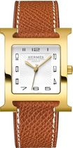 HERMES  H Hour Gold Plated Case Unisex Watch 036842WW00