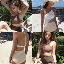 ☆KOREAN TRIANGLE ONE PIECE ONE SHOULDER SWIMMINGSUITS★