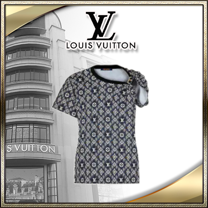 21SS レディース 新作 LOUIS VUITTON直営店 Tシャツ モノグラム (Louis Vuitton/Tシャツ・カットソー) 1A8LRE