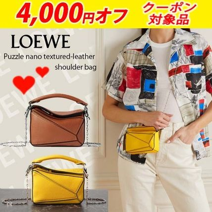 関税送料込国内発送★LOEWE Puzzle nano textured-leather bag
