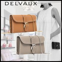 ◆delvaux◆エレガント*Long Walletチェーン付*お出かけにも