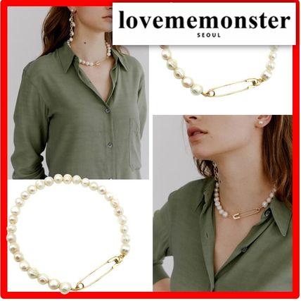 ☆韓国の人気☆【LOVE ME MONSTER】☆Clip & Pearl Necklac.e☆