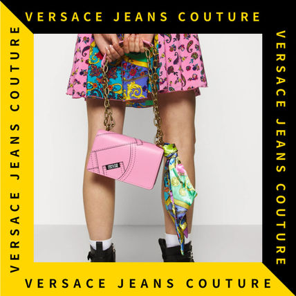 【Versace Jeans Couture】クロスボディ フラップチェーンバッグ