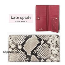 【Kate Spade】eva exotic large slim bifold wallet