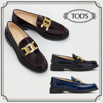 TOD'S☆LOAFERS IN LEATHER☆レザーローファー☆送料込