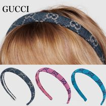 【GUCCI】″Eco Washed Denim Hair Band″GGデニム☆ヘアバンド