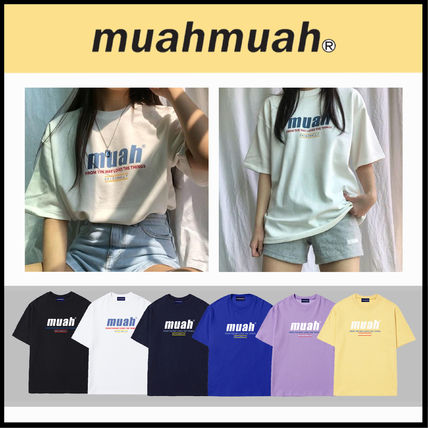 ☆送料無料☆ MUAHMUAH HALF LOWER PRINTING T-SHIRT 6色 ☆