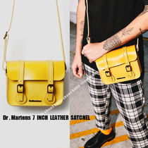 "Dr Martens★7"" LEATHER サッチェルバッグ★YELLOW"