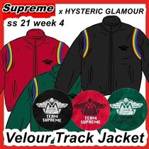 Supreme x HYSTERIC GLAMOUR  Velour Track Jacket ss 21 WEEK 4